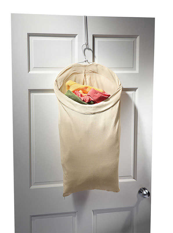Homz  Canvas  Over The Door Hanging Hamper  Beige