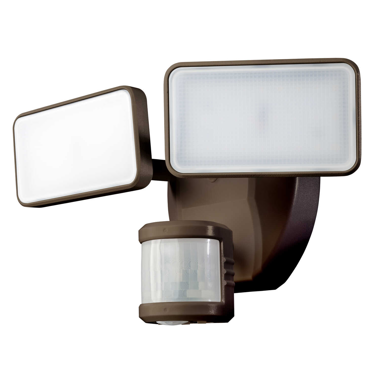 Heathco  Hardwired  LED  Bronze  Motion-Sensing  Plastic  Security Wall Light