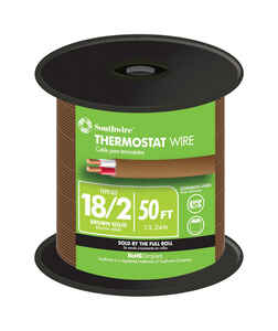 Southwire  50 ft. 18/2  Solid  Copper  Thermostat Wire