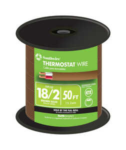 Southwire  50 ft. 18/2  Copper  Thermostat Wire  Solid