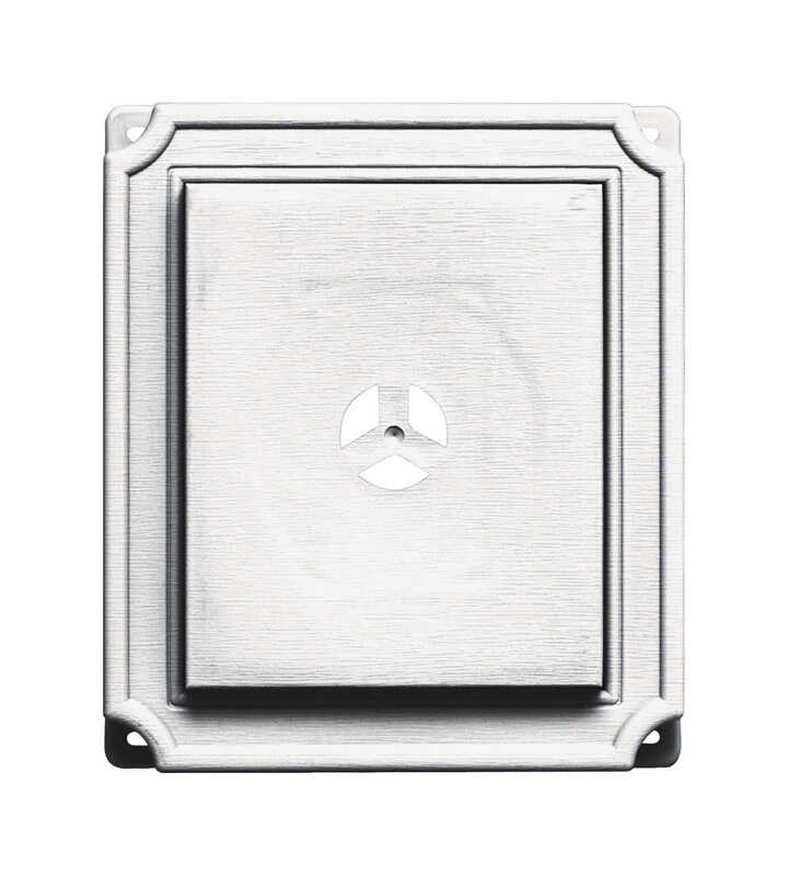 Builders Edge  1-5/8 in. L Prefinished  White  Copolymer  Mounting Block