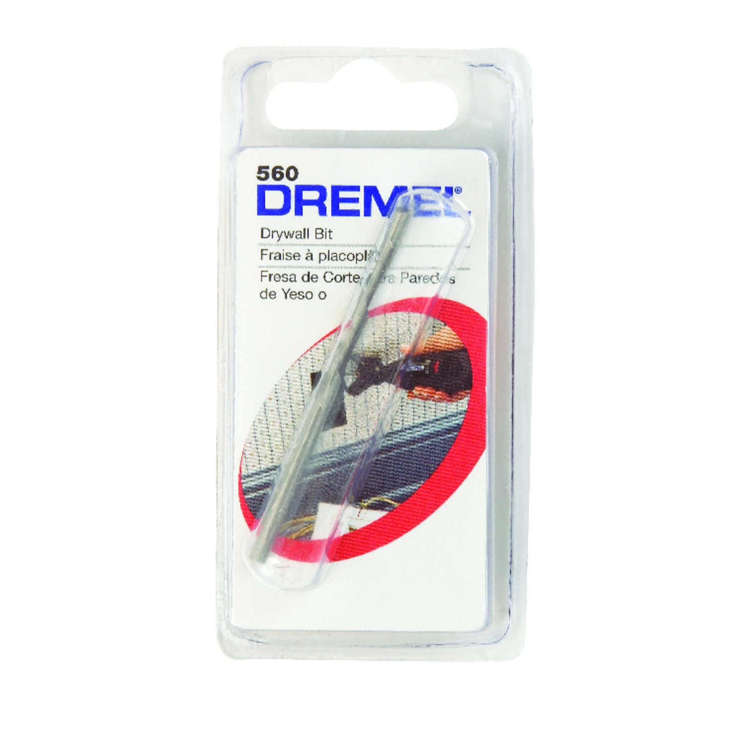 Dremel  1/8 in   x 1-1/2 in. L x 1/8 in. Dia. Steel  Drywall Cutting Bit  1 pk