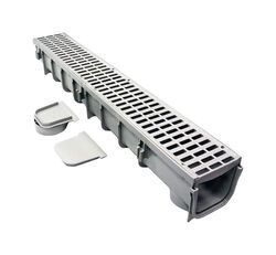 NDS 39-1/2 in. Gray Rectangle Polyethylene Channel Grate
