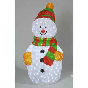 Decoris  LED Snowman  Christmas Decoration  Multicolored  Acrylic  1 each