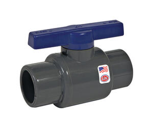 NDS  1-1/4  Threaded  Gray  PVC  Ball Valve