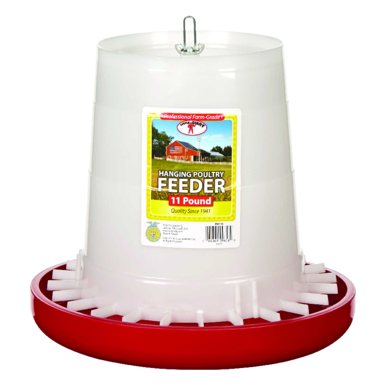 Miller  Little Giant  176 oz. Feeder  For Poultry