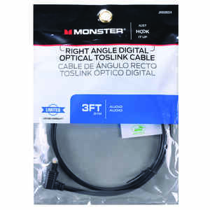 Monster Cable  Just Hook It Up  3 ft. L Digital Optical Toslink Cable  Digital Optical