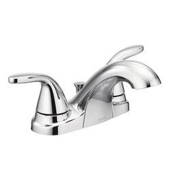 Moen  Adler  Chrome  Two Handle  Lavatory Faucet  4 in.