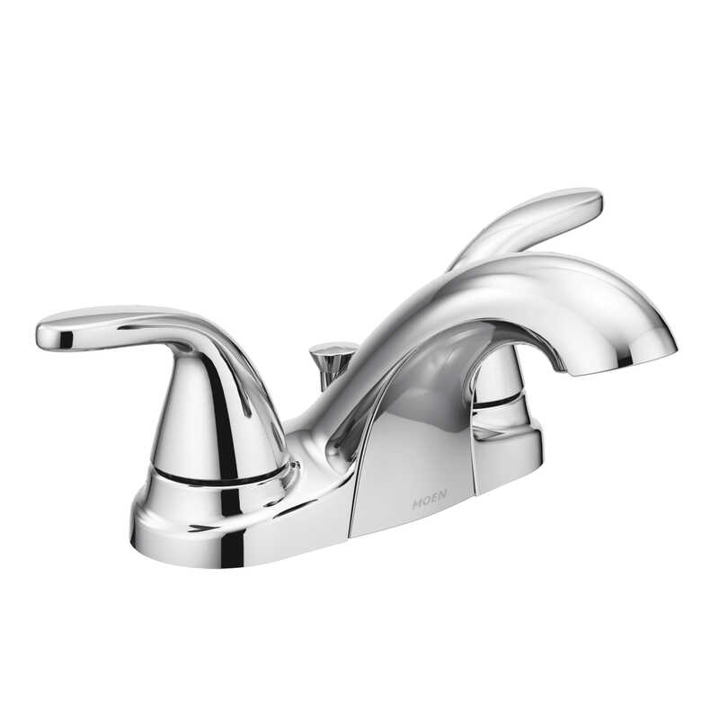 Moen  Adler  Two Handle  Lavatory Faucet  4 in. Chrome