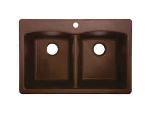 Franke  Composite Granite  Dual Mount  33 in. W x 22 in. L Kitchen Sink  Mocha
