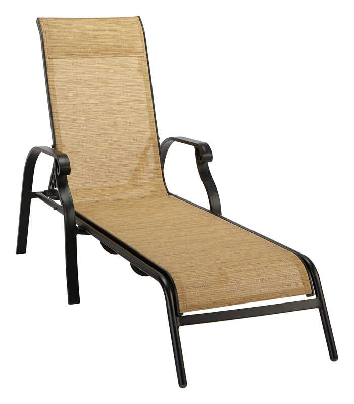 Living Accents Metropolitan Patio Furniture: Living Accents Brown Aluminum Heritage Chaise Lounge