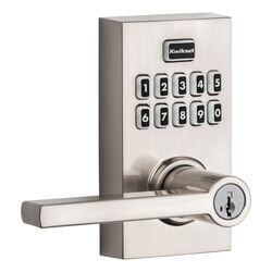 Kwikset  SmartCode 917  Satin Nickel  Metal  Electronic Touch Pad Entry Lever