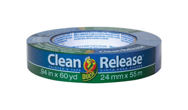 Duck Brand  Clean Release  .94 in. W x 60 yd. L Blue  Medium Strength  Painter's Tape  1 pk