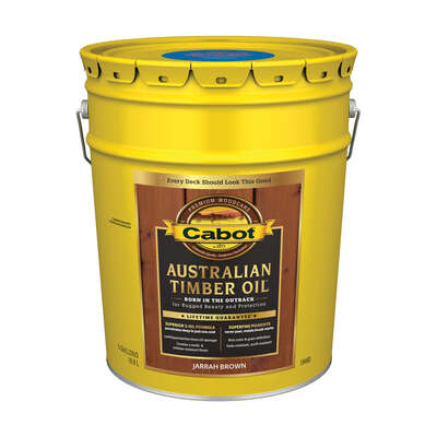 Cabot  Transparent  Jarrah Brown  Oil-Based  Alkyd  Australian Timber Oil  5 gal.