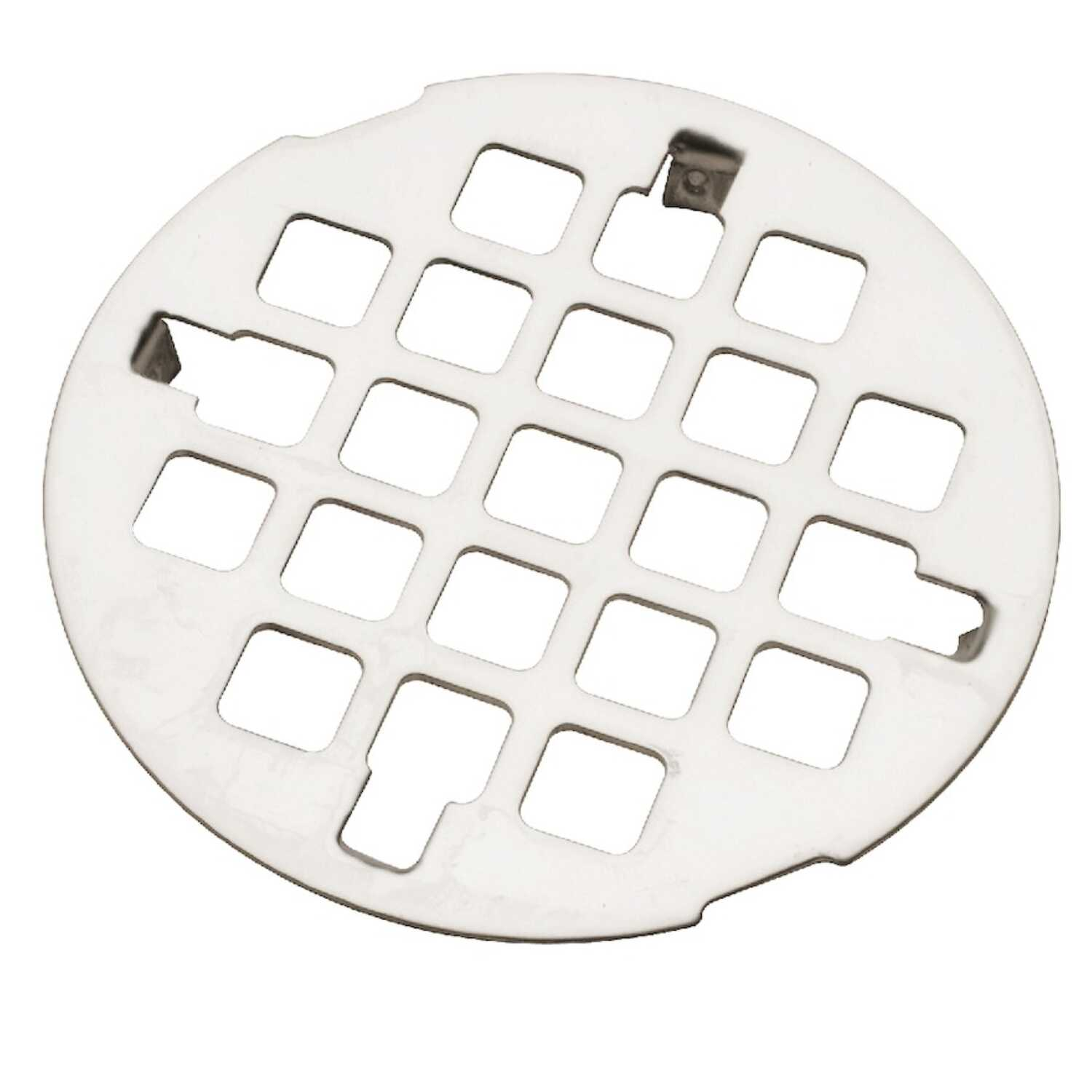 Ace  3-1/4 in. Chrome  Round  Drain Grate