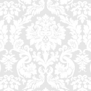 Magic Cover  Yard Goods  .01 in. H x 54 in. W x 540 in. L Damask White  Vinyl  Flannel Backed Coveri