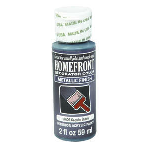Homefront  Decorator Color  Metallic  Sequin Black  Hobby Paint  Acrylic Latex  2 oz.