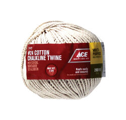Ace 24 in. Dia. x 280 ft. L White Twisted Cotton Twine