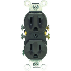 Leviton  15 amps 125 volt Duplex  Brown  Outlet  5-15R  1 pk