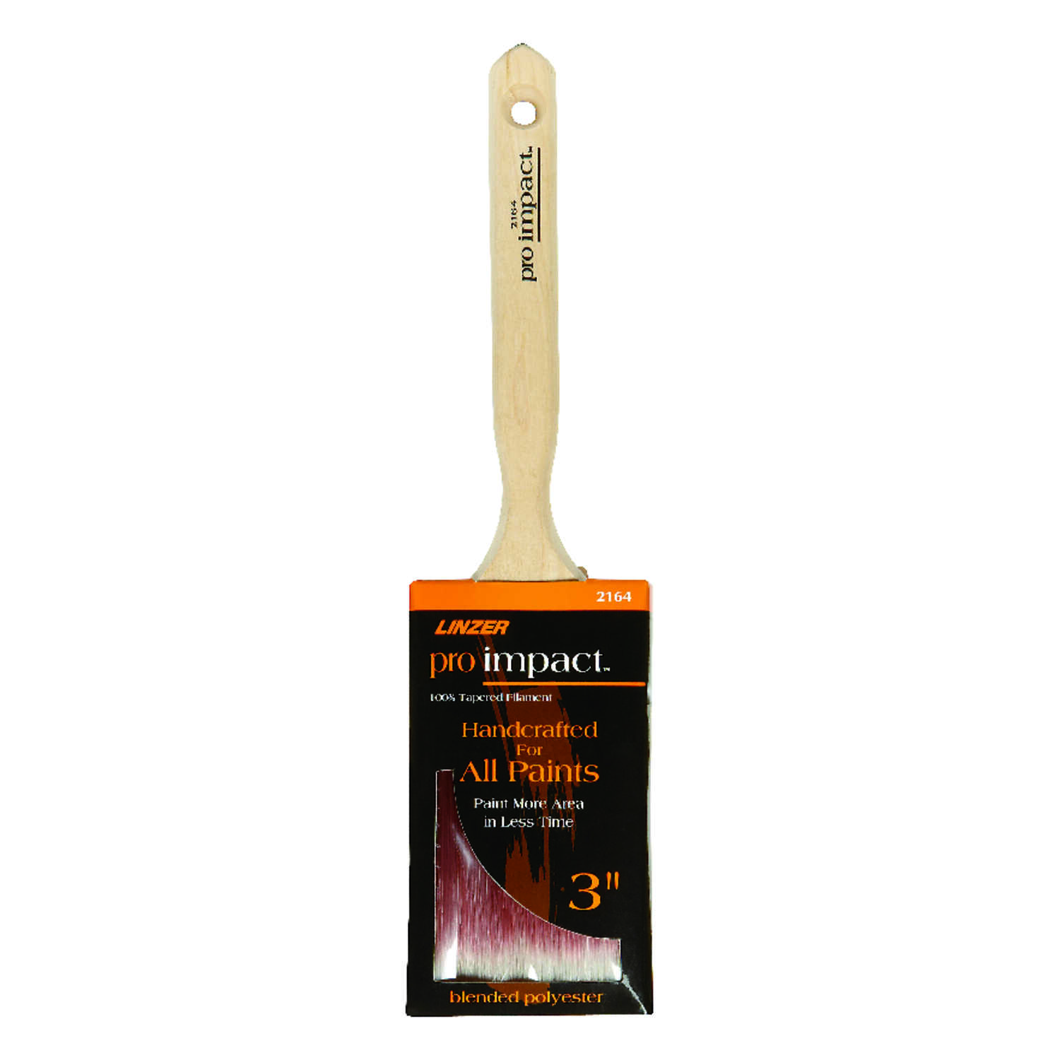 Linzer  Pro Impact  3 in. W Flat  Polyester Blend  Paint Brush