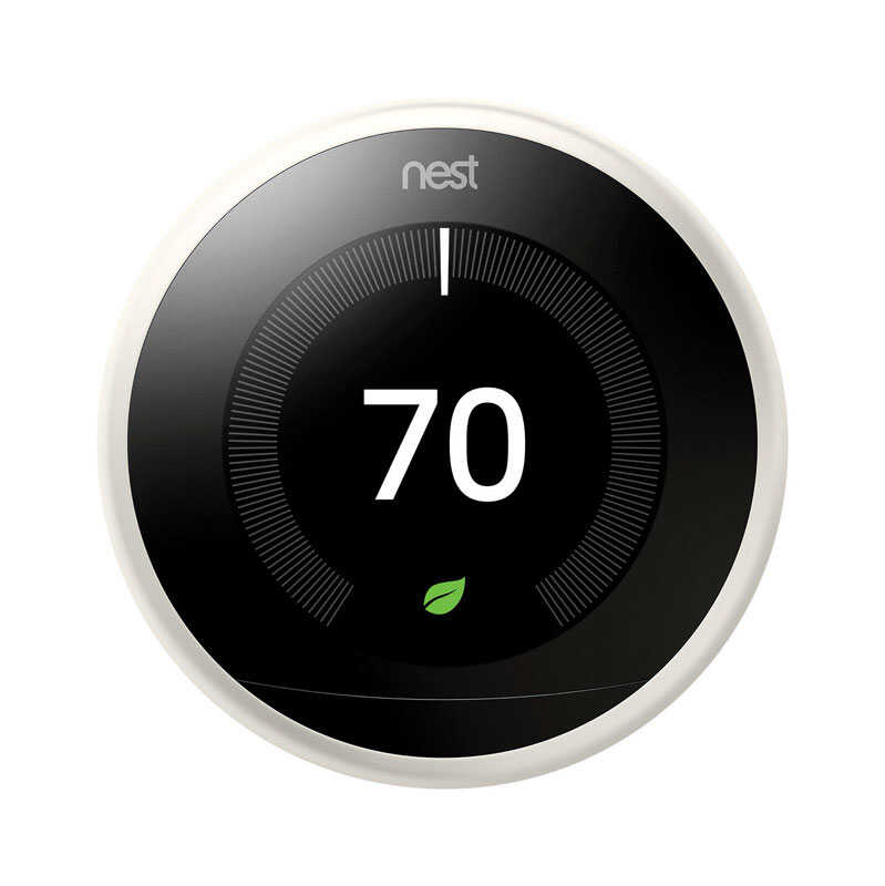 Nest  Learning Thermostat  Built In WiFi Heating and Cooling  Push Buttons  Smart Thermostat