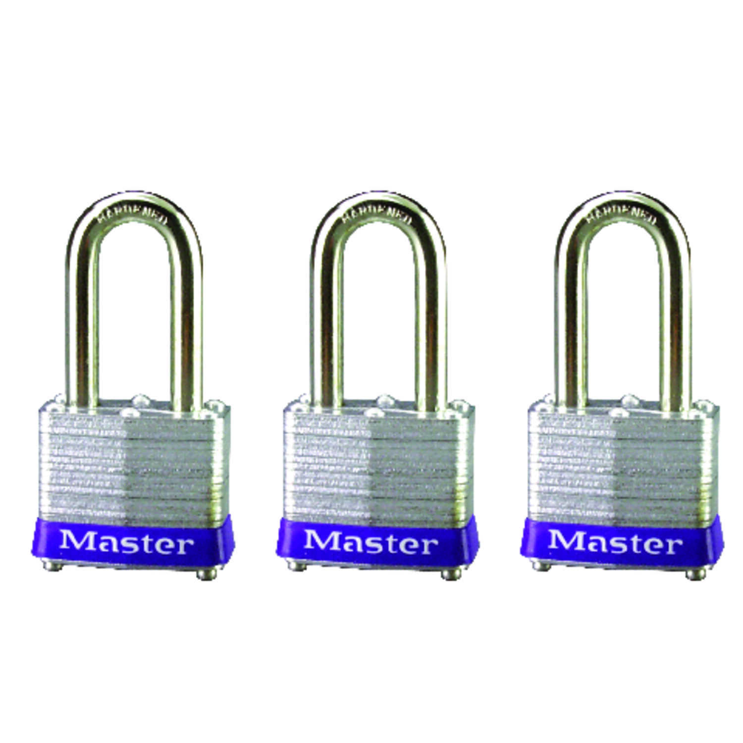 Master Lock  1-5/16 in. H x 1-5/8 in. W x 1-9/16 in. L Laminated Steel  4-Pin Cylinder  Padlock  3 p