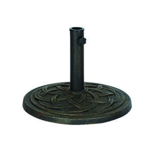 Bond Manufacturing  Antique Bronze  Envirostone  Umbrella Base  17.7  L x 17.7 in. W x 13.18 in. H