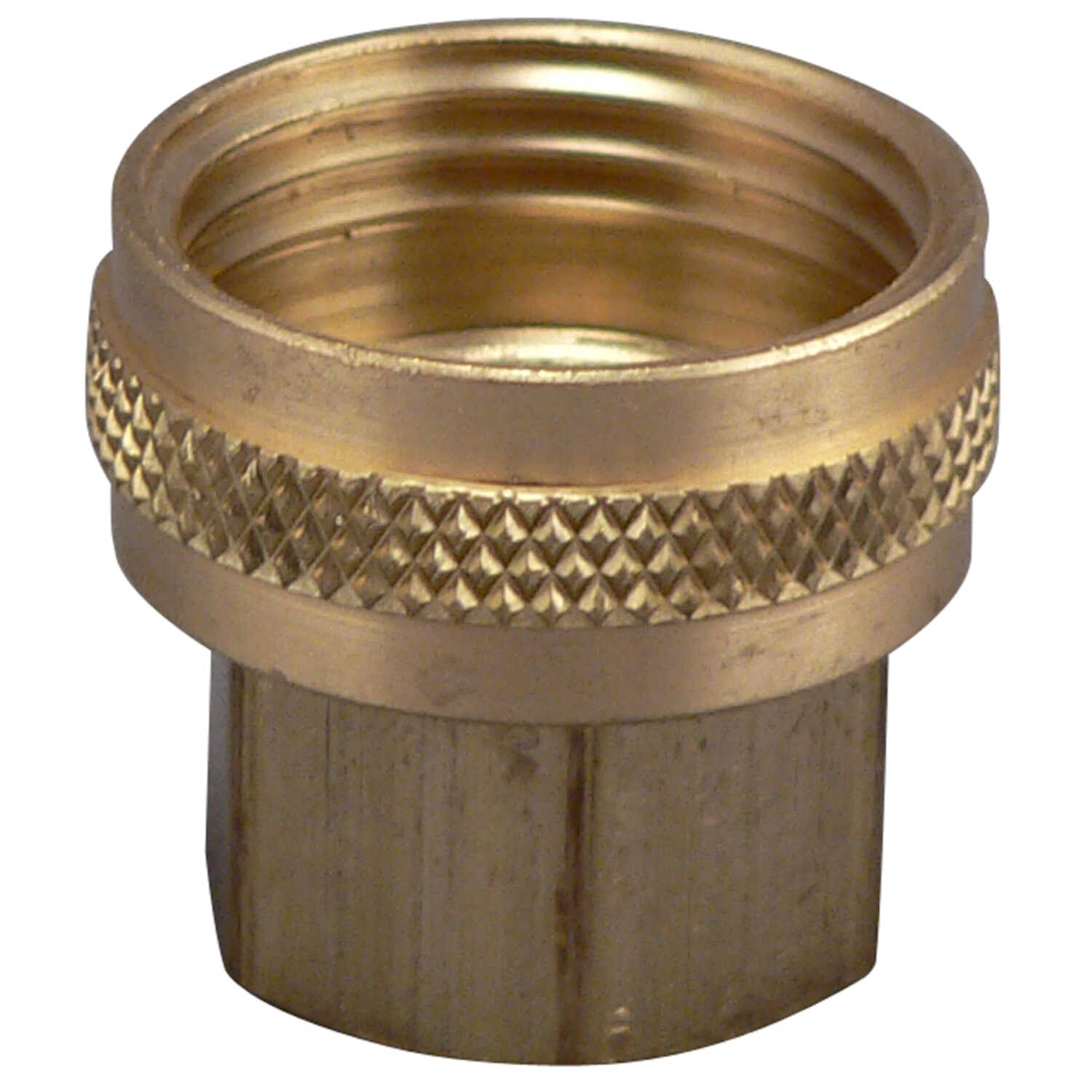 Plumb Pak  Brass  1/2 in. Dia. x 3/4 in. Dia. Swivel Hose Adapter  1 pk