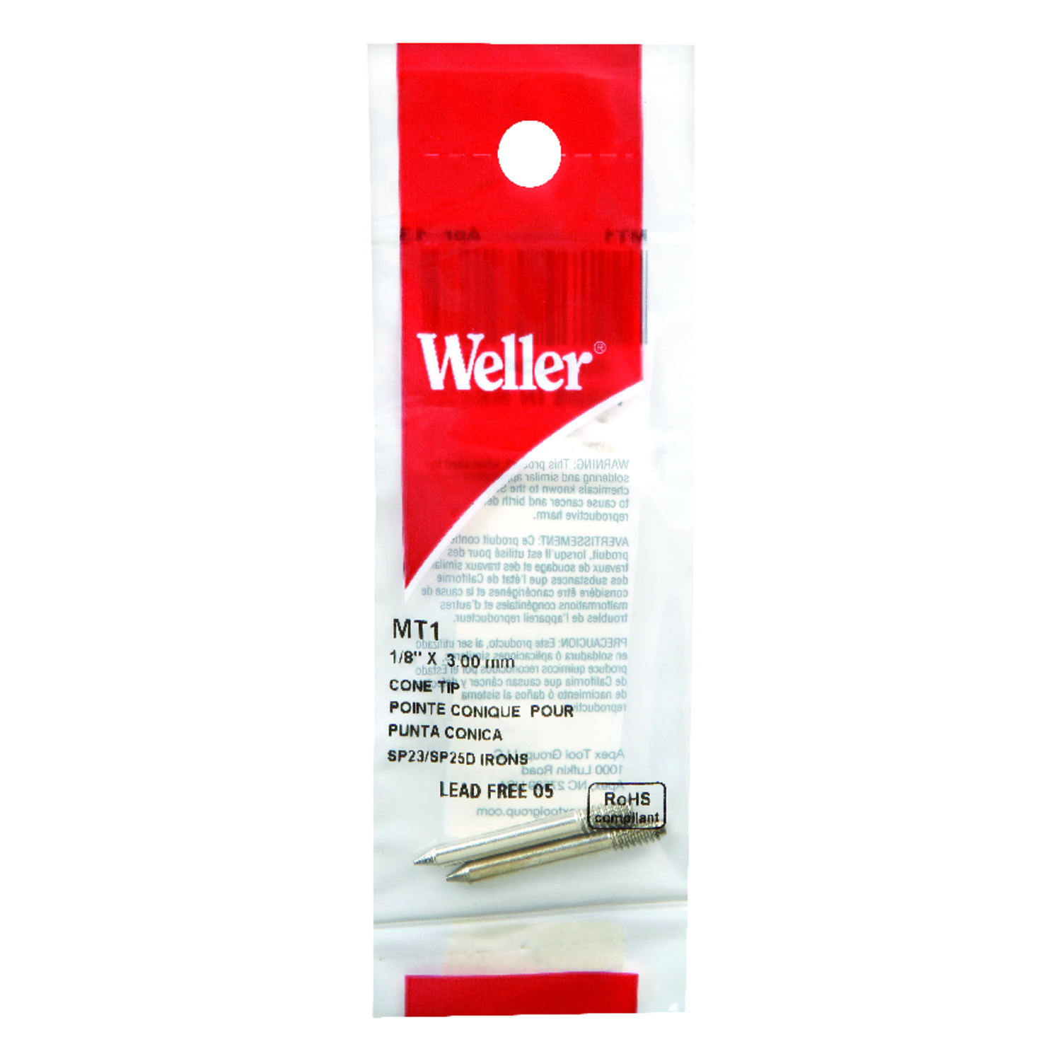 Weller  Lead-Free Soldering Tip  Copper