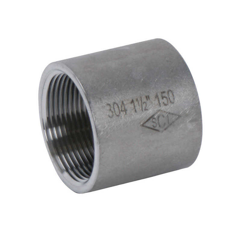 Smith-Cooper  1 in. FPT   x 1/2 in. Dia. FPT  Stainless Steel  Reducing Coupling