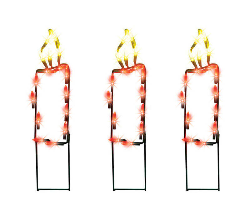 Product Works  Pathway Candle  Christmas Decoration  Multicolored  Metal frame  1 pk