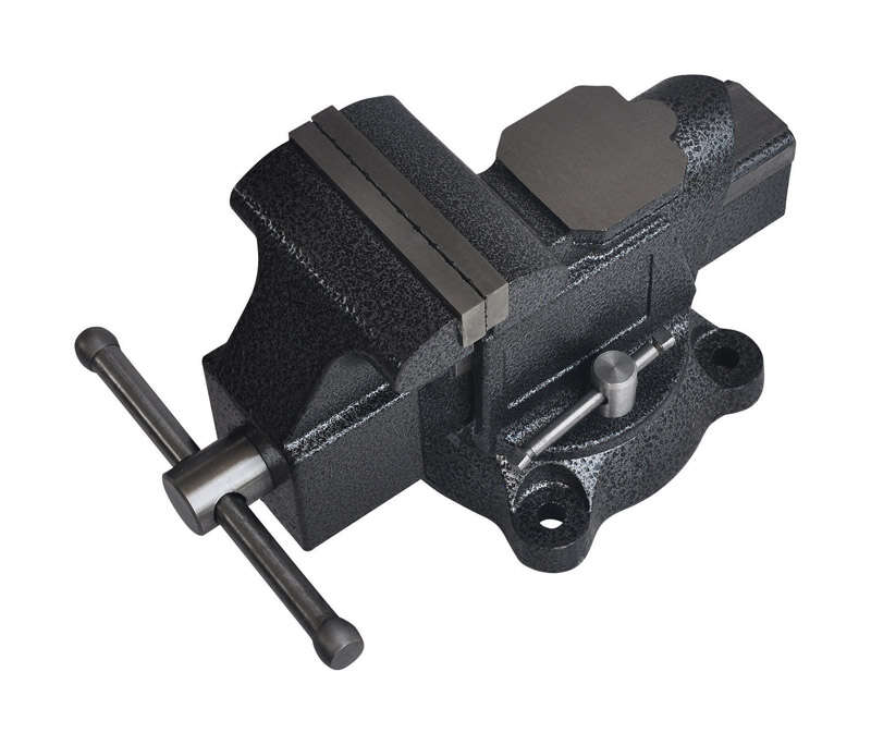 Steel Grip  4 in. Forged Steel  Bench Vise  Swivel Base