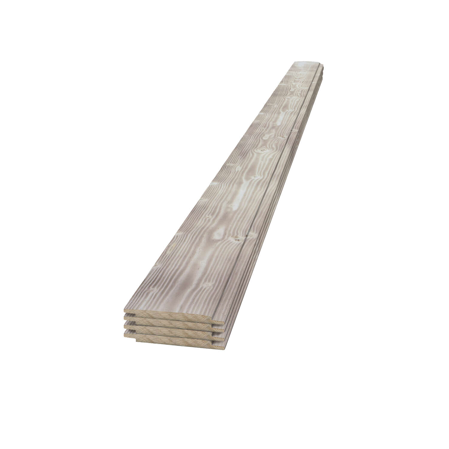 UFP-Edge  4 in. H x 6 in. W x 96 in. L Charred Smoke  Wood  Shiplap