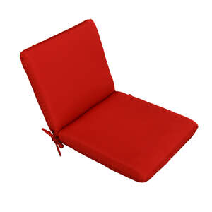 Casual Cushion  Polyester  1.5 in. 36 in. 19 in. Red  Seating Cushion
