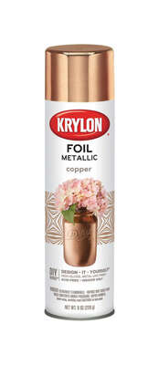 Krylon Foil High Gloss Copper Metallic Spray Paint 8 oz.