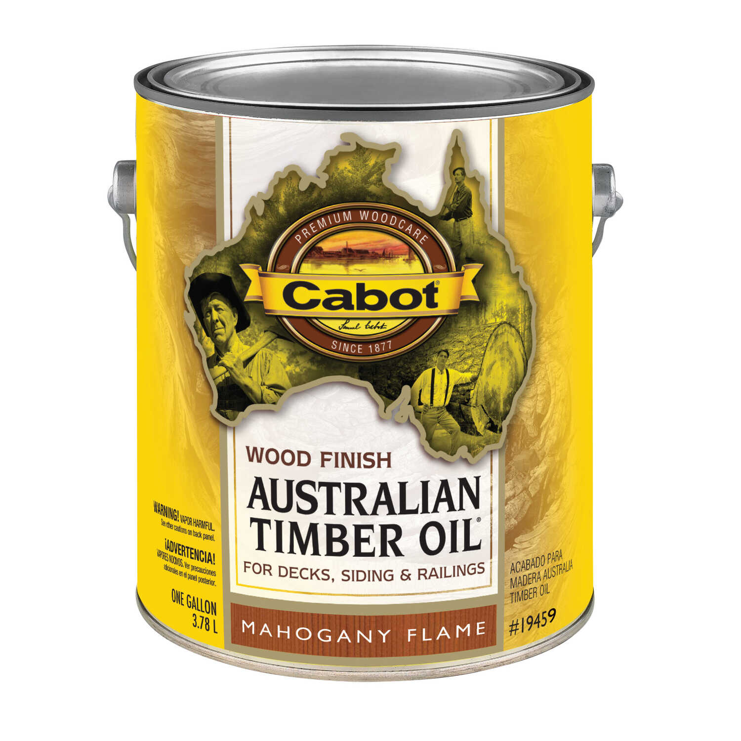 Cabot  Transparent  19459 Mahogany Flame  Oil-Based  Natural Oil/Waterborne Hybrid  Australian Timbe