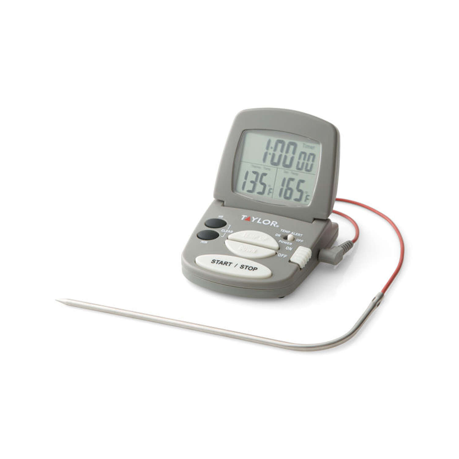 Taylor  Instant Read Digital  Probe Thermometer w/ Alarm & Timer