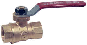 Mueller  Ball Valve  3/8 in. FPT   x 3/8 in. Dia. FPT  Brass  Packing Gland
