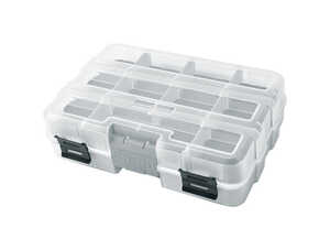 Ace  2-5/16 in. L x 6-1/2 in. W x 8-7/8 in. H Double-Sided Organizer  Plastic  Clear