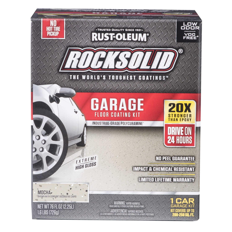 Rust Oleum Rocksolid Mocha Garage Floor Coating Kit 76 Oz