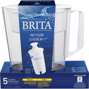Brita  Soho  5 cups White  Pitcher