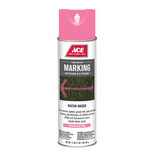 Ace  Water-Based  Pink  Field Marking Chalk  17 oz.
