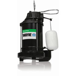 Wayne  1/3 hp 4,600 gph Thermoplastic  Vertical Float Switch  AC  Submersible Sump Pump