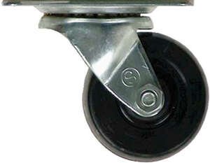 Shepherd  2-1/2 in. Dia. Swivel Rubber  Caster  100 lb. 1 pk