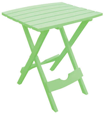 Adams  QuikFold  Rectangular  Summer Green  Polyresin  Contemporary  Folding Side Table