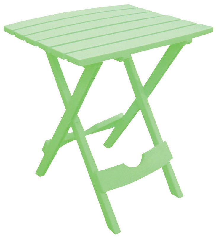 Adams QuikFold Green Contemporary Polyresin Folding Side Table Rectangular