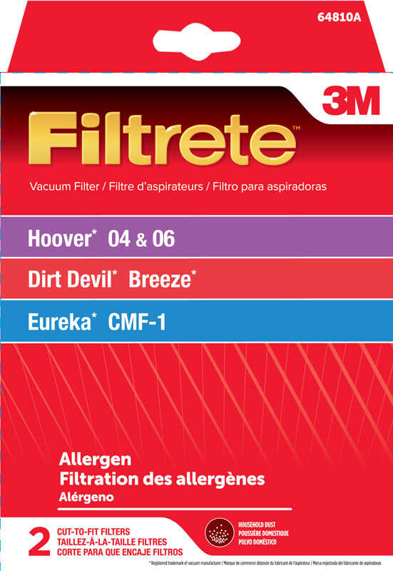 3M  Filtrete  Vacuum Filter  For 04, 06,Breeze, CMF-1 2 pk