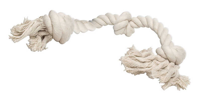 Diggers  White  Rope Bone  Cotton  Rope Dog Tug Toy  Extra Large