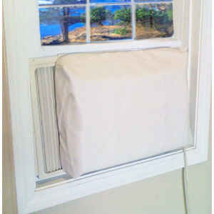 AC Safe  14 in. H x 21 in. W PVC  Tan  Square  Indoor Window Air Conditioner Cover