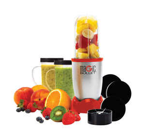 Magic Bullet  As Seen on TV  Red  Stainless Steel  Blender and Food Processor  19  1 speed